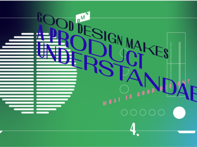 Good design makes a product understandable – DMN illustration