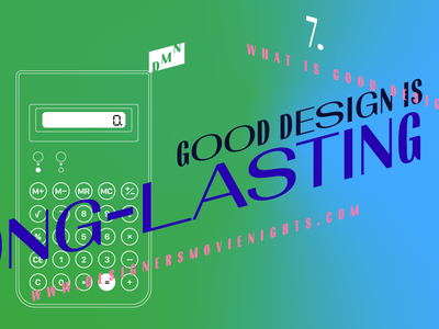 7. Good design is long-lasting – DMN illustration
