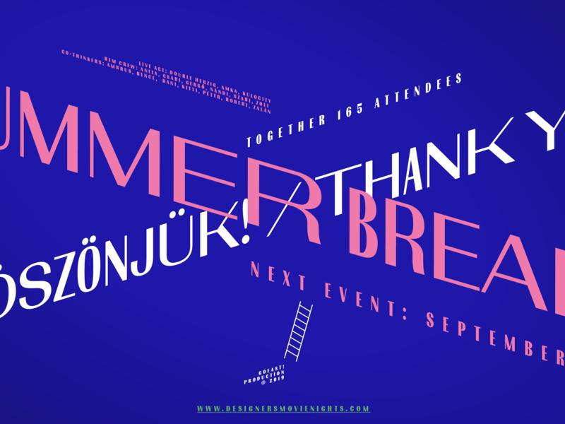 Summer break! goeast! nights design inspirational budapest dmn