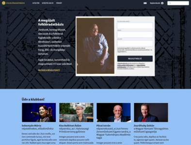 Folklordatabase – Landing page concept ux ui wip folklore webflow budapest goeast! design website design landing page folklordatabase
