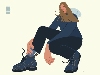 self-portrait shoe boots procreate girl self-portrait selfportrait illustration art illustration