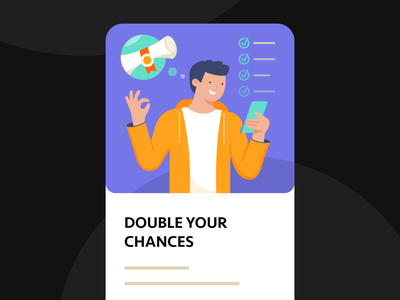 GetExam app 3 school guy study app study exam ui vector illustrator flat illustration