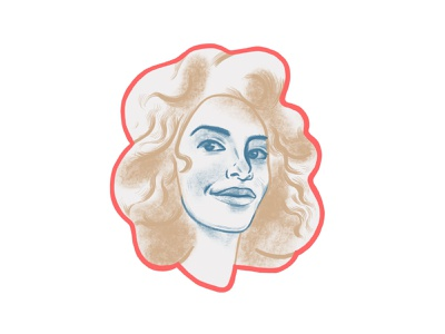 Sofia teammember team handdrawing woman girlportrait girl ipadprocreate procreate dribbble portrait graphic design ui