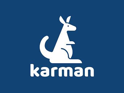 Karman logo karman illustration illustrator wallaby kangaroo logotype logo
