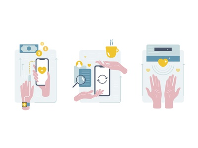Icon set discounts donate value benefit icon hands trust charity data health exchange flat iconset illustration