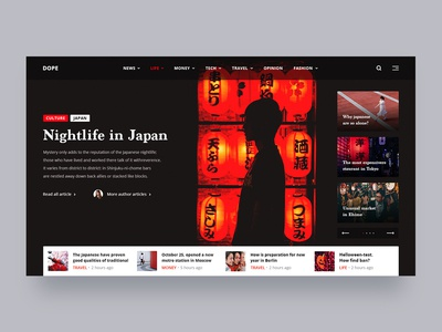 Dope typography black red concept website news new japan first shot uidesign ui