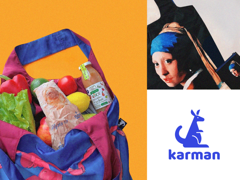 Logo Karman karman australia kangaroo violet ui design branding illustrator vector illustration logotype logo