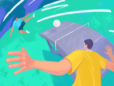 Teqball dribbblers illustrations game sport ball cg ipadproart teqball graphic design illustration
