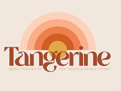 Tangerine - Retro Font typography elegant font amazing font beautiful font script font calligraphy wedding font cursive font