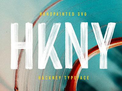Hackney SVG - Bold Hand-painted Font beautiful font amazing font vector wedding font calligraphy design illustration cursive font elegant font script font