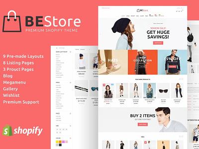 BeStore - Fashion Shopify Theme animation flat app web icon ux typography vector ui branding logo