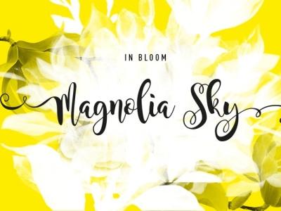 Magnolia Sky typography beautiful font script amazing font design cursive font elegant font wedding font calligraphy script font