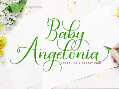 Baby Angelonia wedding font script font