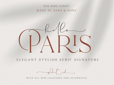 Hello Paris Modern Paired Duo Font