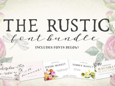 The Rustic Font Bundle