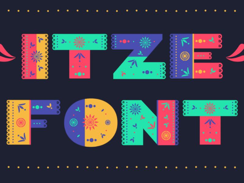 Itze Font fun modern menu card design font