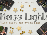Merry Lights Font