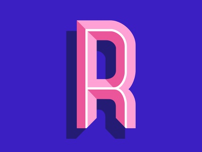 "36days of type ""R"" design vector digital art typography lettering 36 days of type art graphic design illustration"