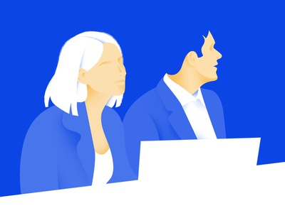Couple in office office couple drawing design vector digital art art graphic design illustration