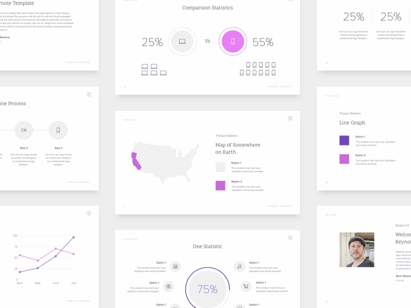 pitch deck template by straple dribbble dribbble