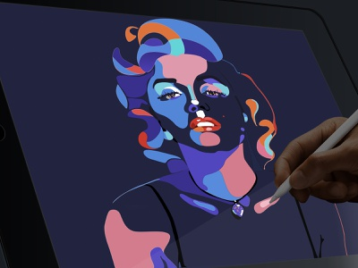 Marilyn Monroe website ux app vector animation illustration design ui