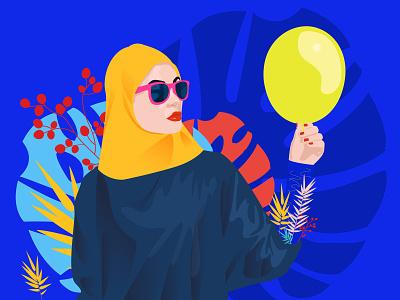 Claretta balloon ui illustration