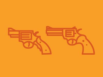 Finger on the trigger illustration guns icons