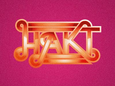 Hakt disco logo typography hakt