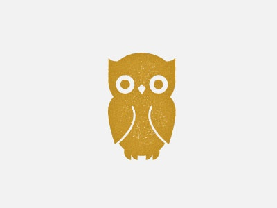 Wise guy logo owl icon design minimal stamp