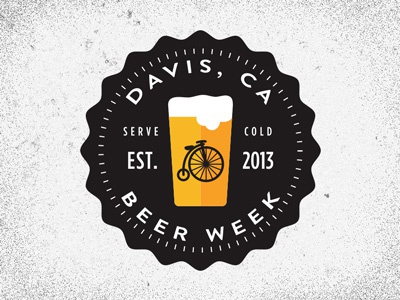Davis Beer Week beer week design davis california logo