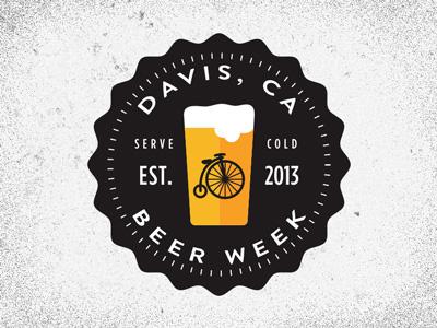 Davis Beer Week beer week design davis california logo