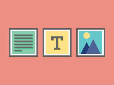 design elements icons artisan paragraph text label image file