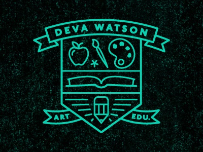 Art Ed art education teacher deva branding logo
