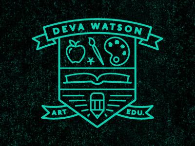 Art Ed art education teacher deva branding logo