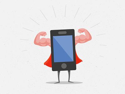 Super App artisan illustration app superhero mobile