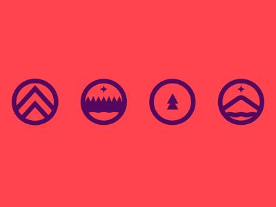 unused Northern Nights logos logo branding northern nights festival edm dance