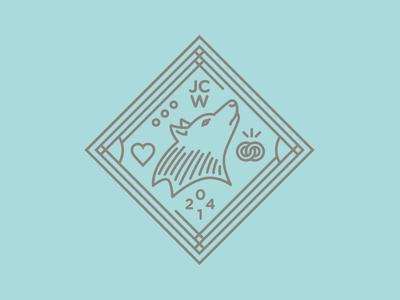 Wolfpack Wedding wolf logo wedding design
