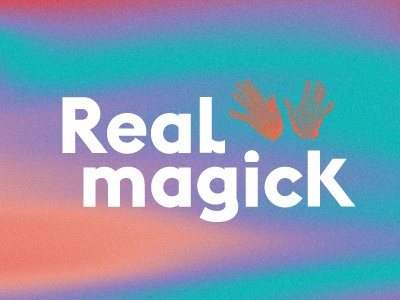 Real Magick logo type typography design lettering
