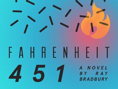 Fahrenheit 451 design typography book cover