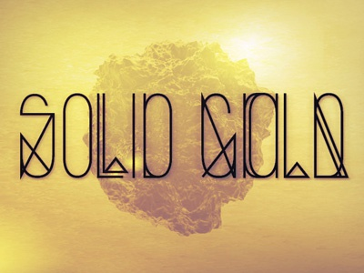 Solid Gold type typography font solid gold