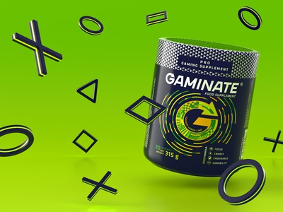 Gaminate Lemon Lime package design brand design octane c4d 3d modo packaging keyvisual gaminate supplement gaming