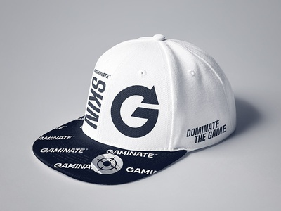 Gaminate Cap e-sport esport gaming lifestyle skin gaminate black white branding cap