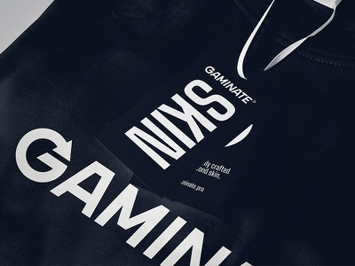Gaminate T Shirt black skin gaminate label print design t-shirts shirt gaming