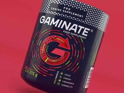 Gaminate Watermelon packshot visualization 3d modo watermelon red design packaging supplement gaming