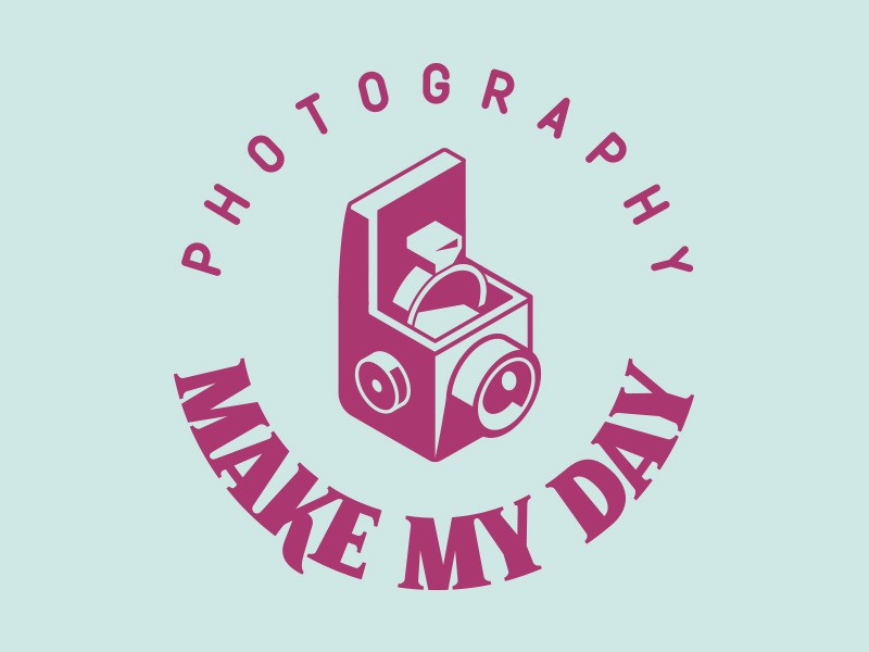 Make My Day lettering brand logo wedding vintage photography