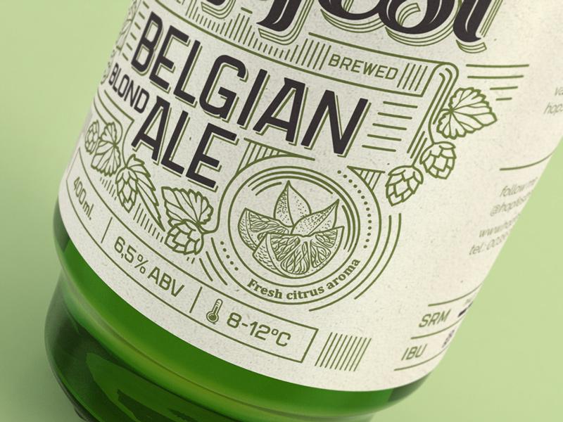 Hopfest Belgian Ale Label rice paper citrus fresh label hops brewery hopfest beer craft