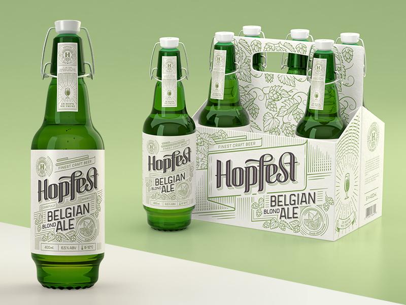 Hopfest Belgian Ale vintage multipack premium ale belgian beer craft 6pak