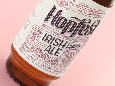 Hopfest Irish Red Ale label