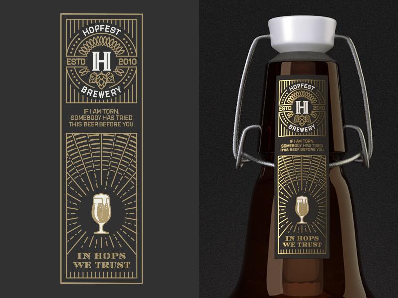 Stout seal label seal label branding design graphic ez-cap gasket cap wire neck bottle beer craft