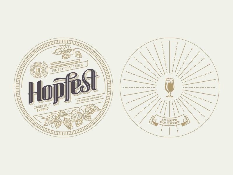 Hopfest Pad Design brand lettering design letterpress pad beer craft